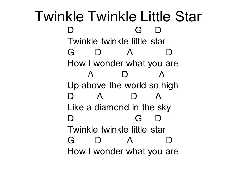 Ukulele Chords Twinkle Twinkle Little Star Image Collections Chord