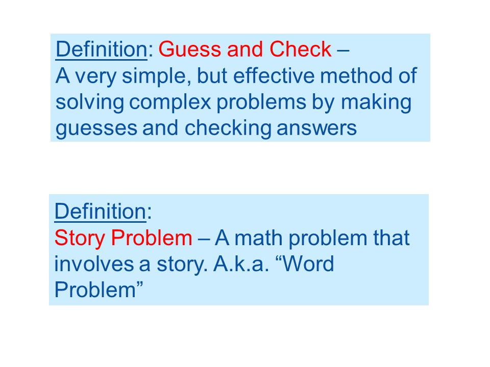 6.4a – Solving Story Problems - ppt video online download