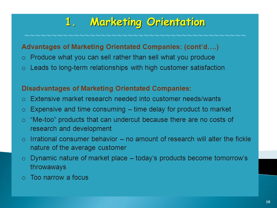 market oriented pricing advantages and disadvantages