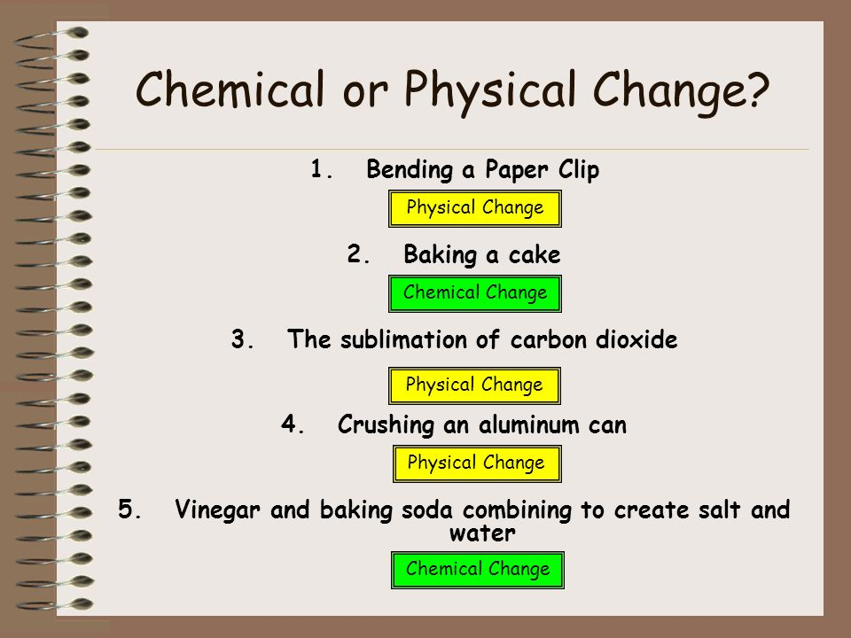 Would Baking A Cake Be A Chemical Or Physical Change