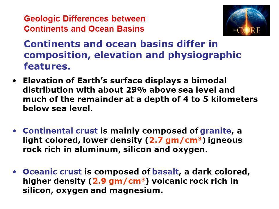 Difference Between Basalt And Granite : Exploring the inner and outer shells of earth ppt video