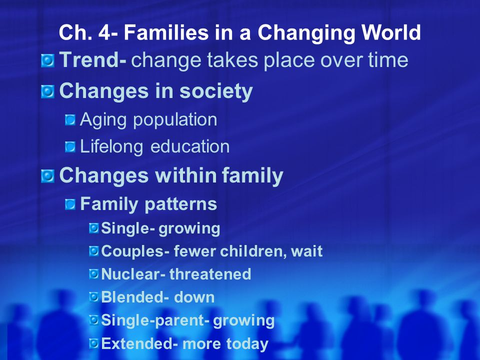 Ch. 4- Families in a Changing World