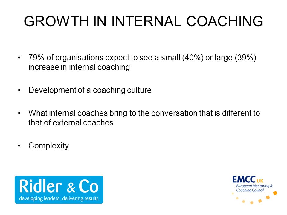 GROWTH IN INTERNAL COACHING