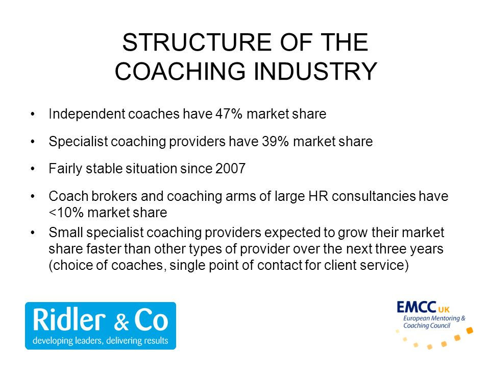 STRUCTURE OF THE COACHING INDUSTRY