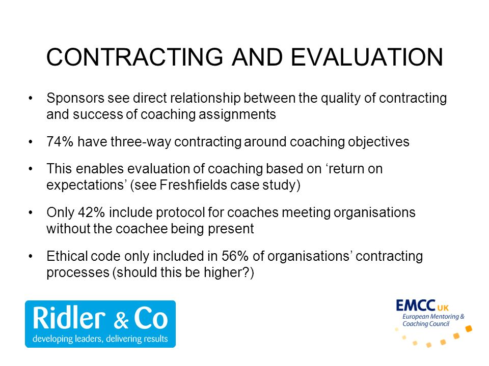 CONTRACTING AND EVALUATION