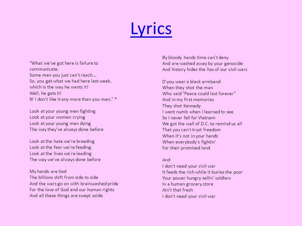 Lyric he wants it all lyrics : Civil War by Guns n Roses - ppt video online download