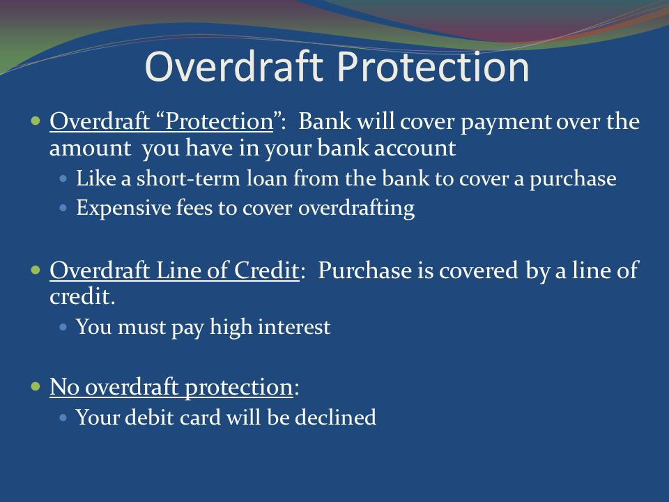 write a check overdraft protection