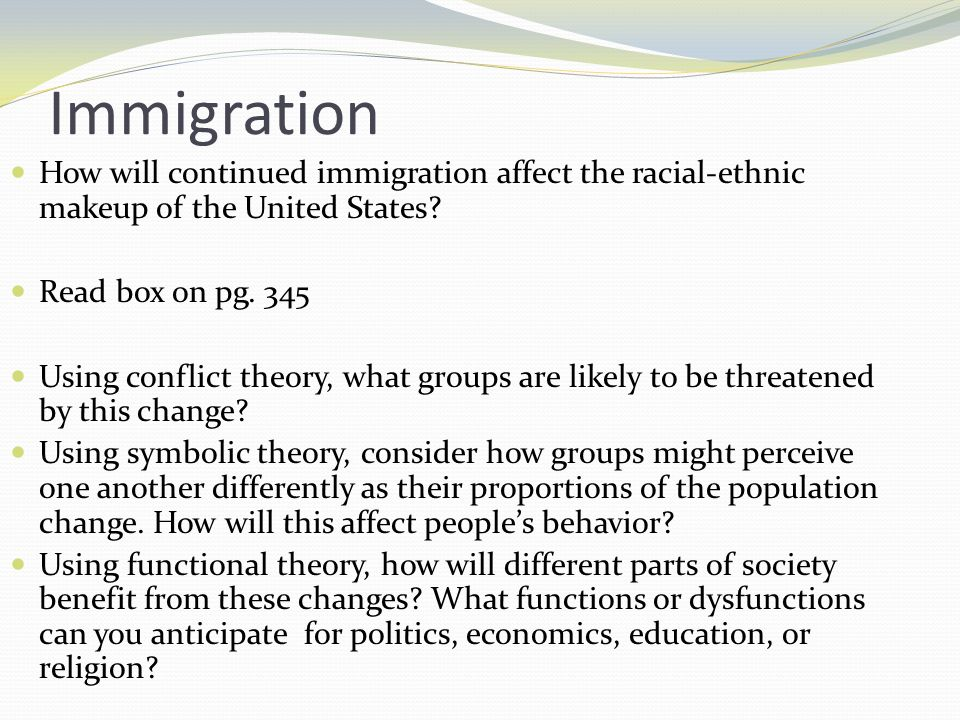 what are the functions and dysfunctions of immigration What are the functions and dysfunctions of immigration answer each question completely these are critical thinking questions which will.