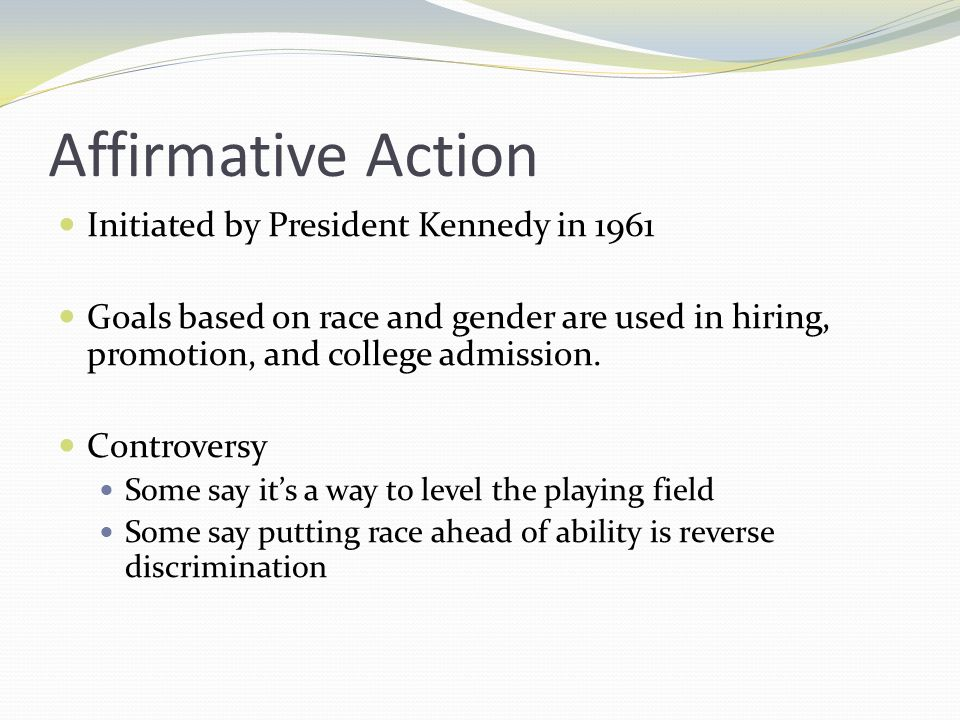 Affirmative action racial inequality