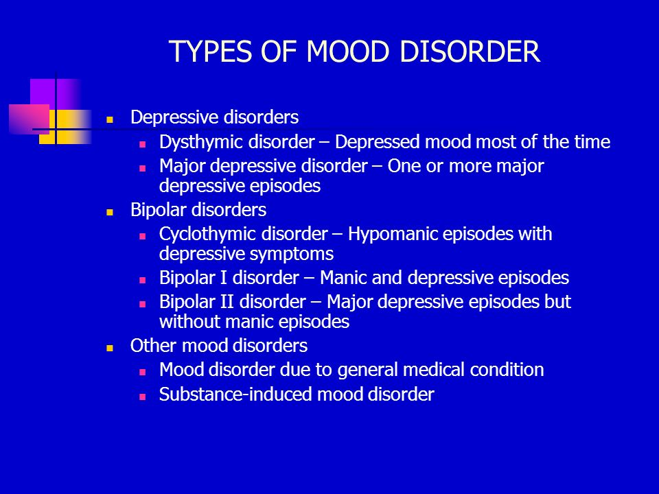 major depressive disorder Major depression is a mood disorder it occurs when feelings of sadness, loss, anger, or frustration get in the way of your life over a long period of time .
