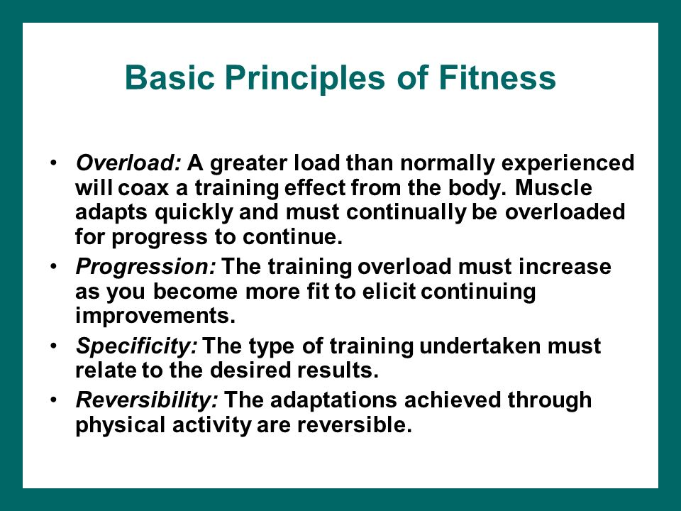 Fitness Basics Ppt Video Online Download