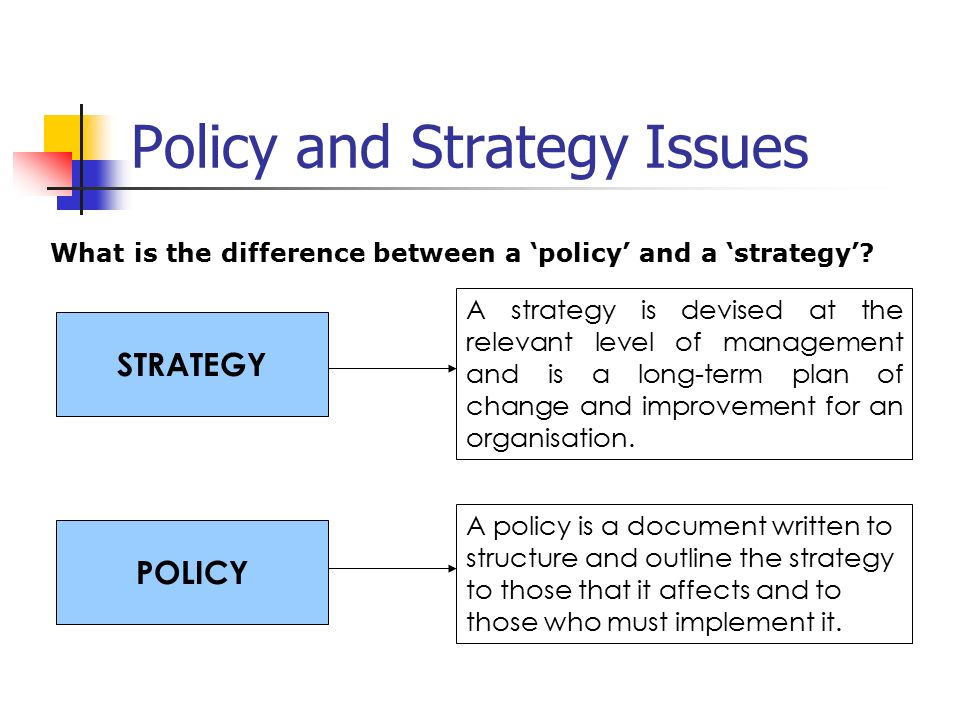 relationship between policy and administration