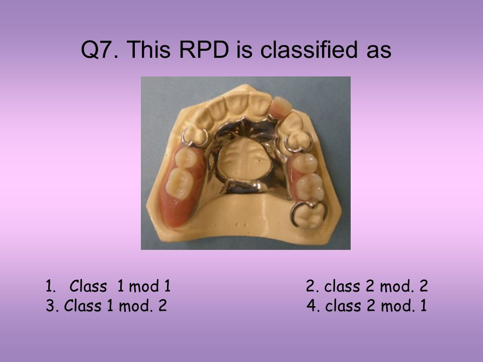 Q7. This RPD is classified as