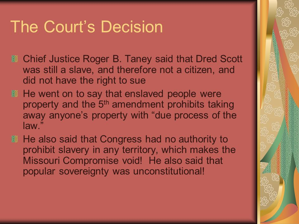 chief justice taney and slavery essay Essay database with free papers will provide you with original  two revealed his stand on slavery:  a biography of chief justice roger brooke taney (1965),.