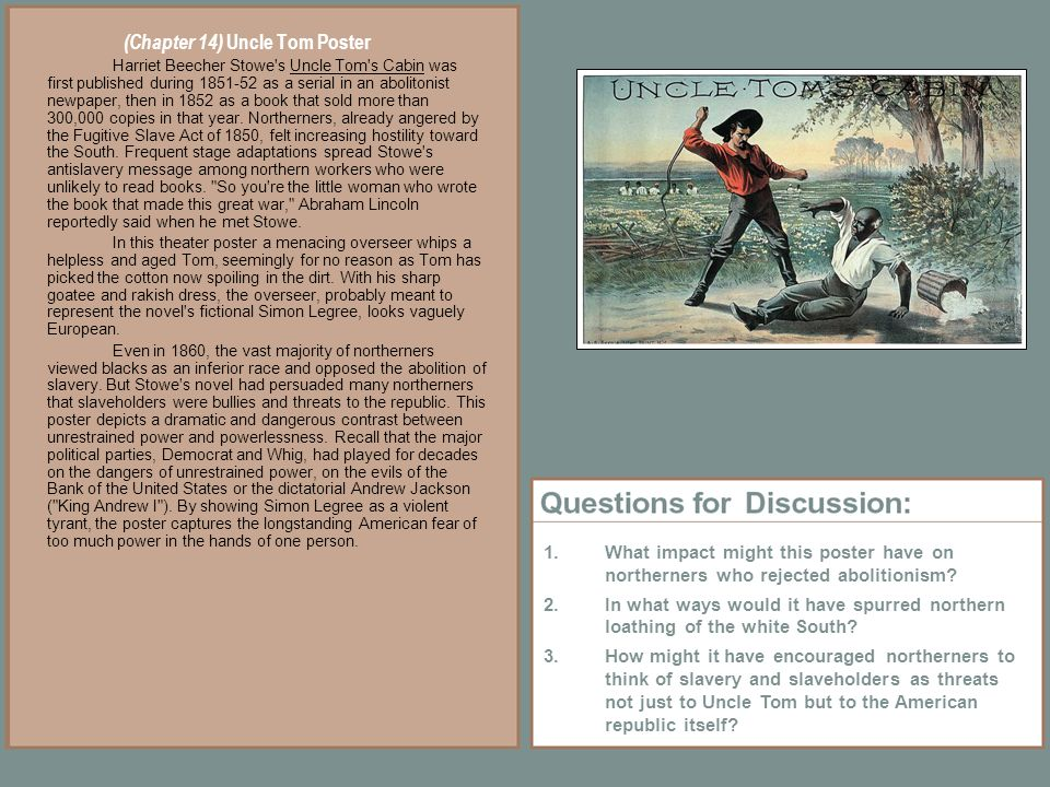 uncle tom s cabin comparison and contrast Compare and contrast log in × scroll to top uncle toms cabin essay examples 73 total results a reaction to uncle tom's cabin by harriet beecher stowe 2,790 words 6 pages  slavery and abuse in uncle tom's cabin by harriet beecher stowe 638 words 1 page.