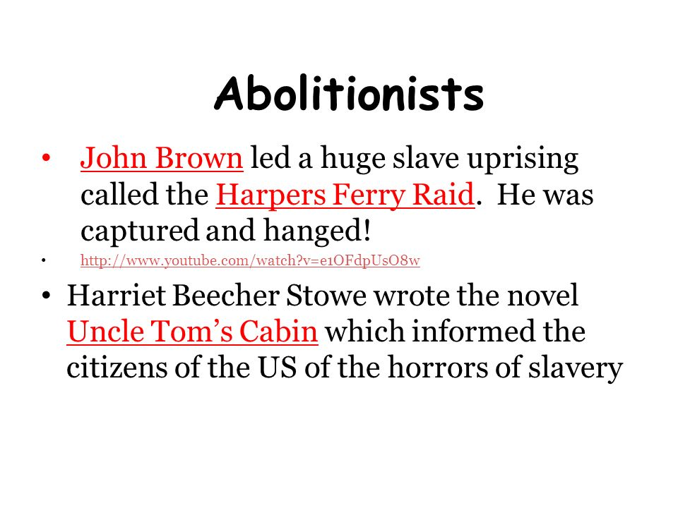 an analysis of the horrors of slavery in uncle toms cabin by harriet beecher stowe Start studying uncle tom's cabin study set  how does harriet beecher stowe,  she wrote the book so people could see the horrors of the fugitive slave act.