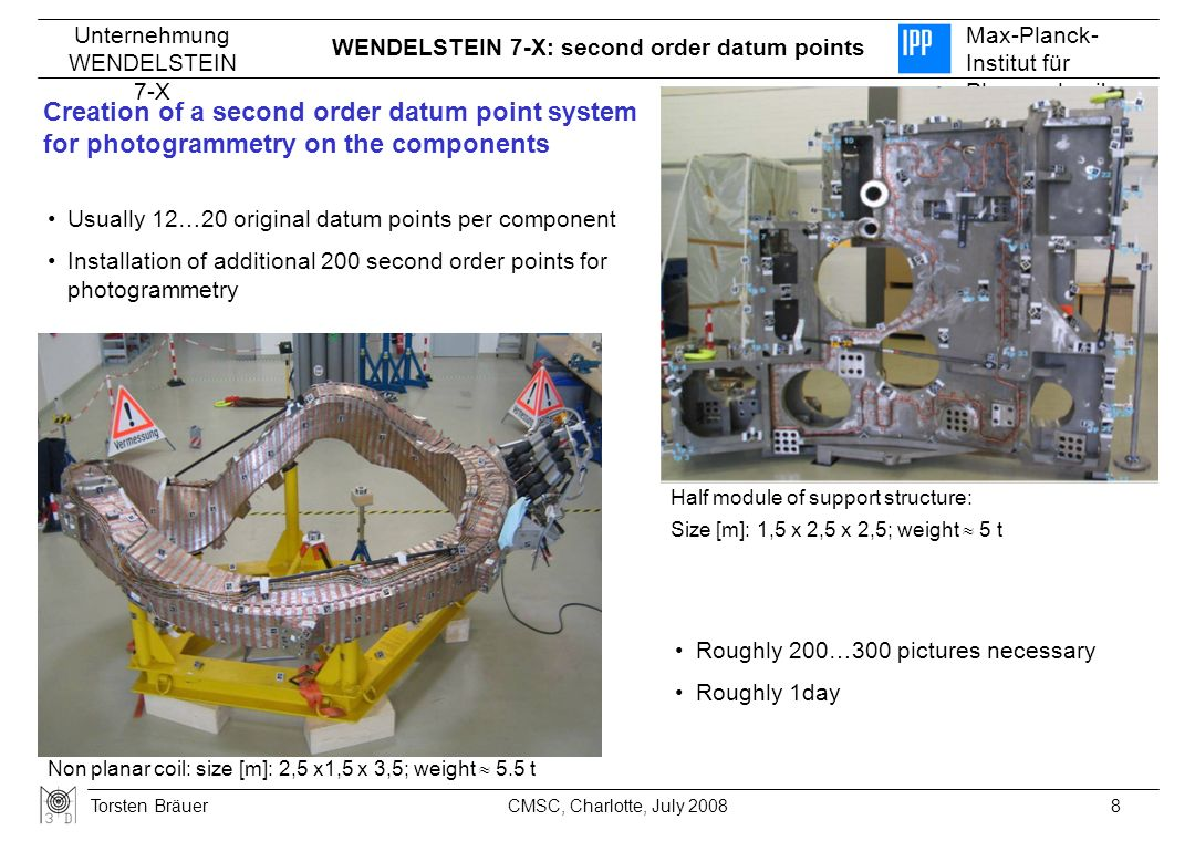WENDELSTEIN 7-X: second order datum points