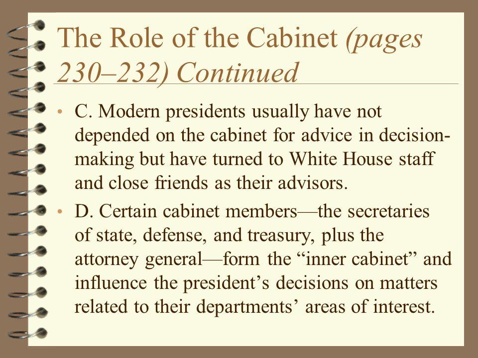 Inner Cabinet Positions And Duties - thesecretconsul.com