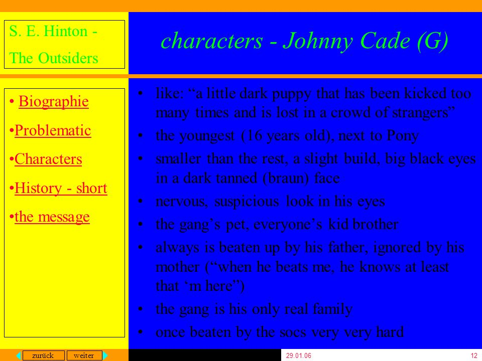 characters - Johnny Cade (G)