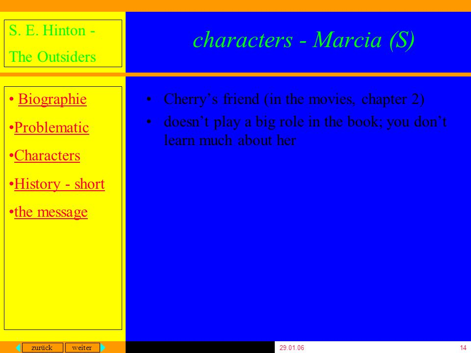 characters - Marcia (S)