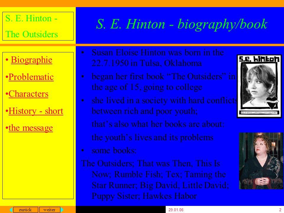 S. E. Hinton - biography/book