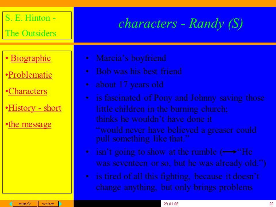 characters - Randy (S) Marcia's boyfriend Bob was his best friend