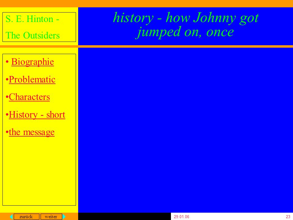 history - how Johnny got jumped on, once