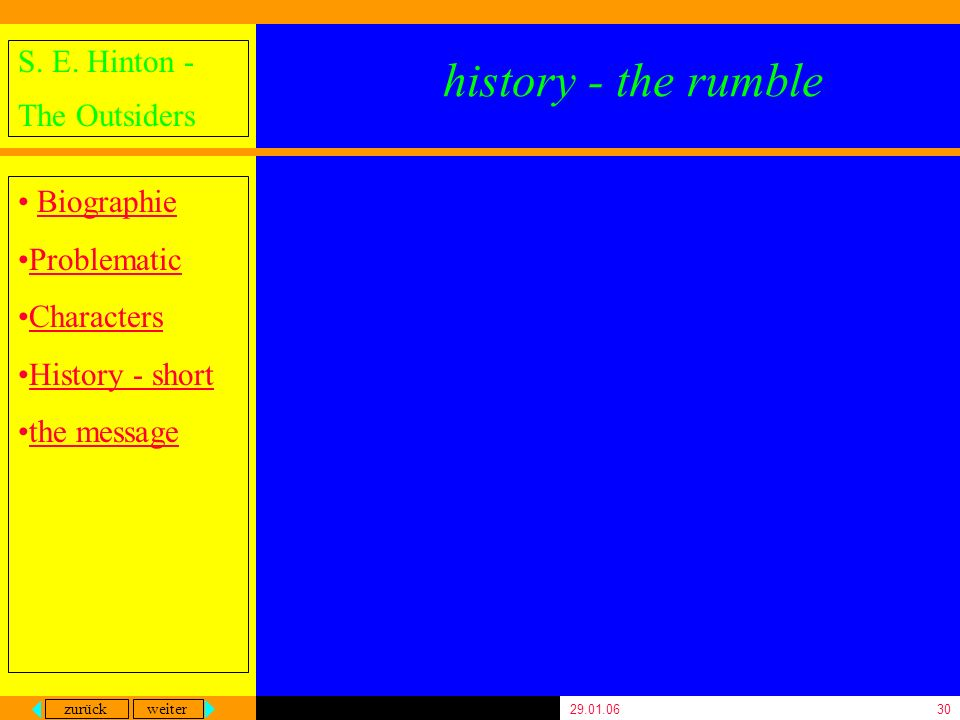 history - the rumble 29.01.06