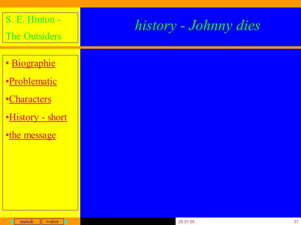 history - Johnny dies 29.01.06