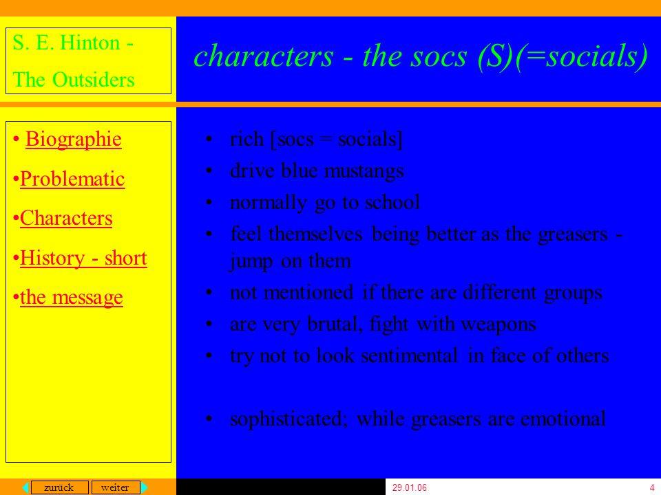 characters - the socs (S)(=socials)