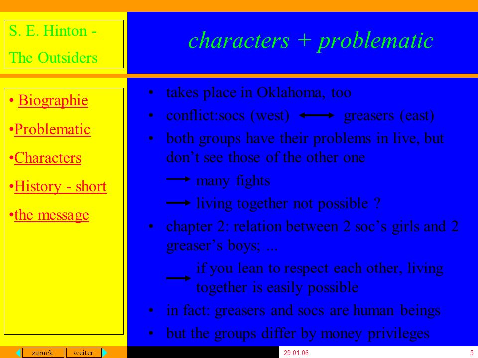 characters + problematic