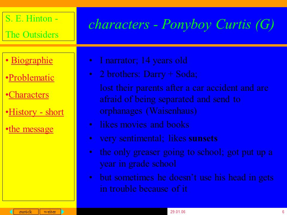 characters - Ponyboy Curtis (G)