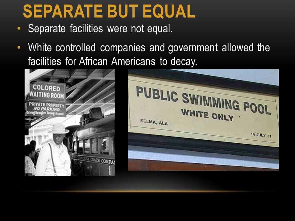 separate but legal equality in america Separate no longer  and bloodshed before america neared a truer equality  board of education of topeka, the legal attack on segregation in america's schools.