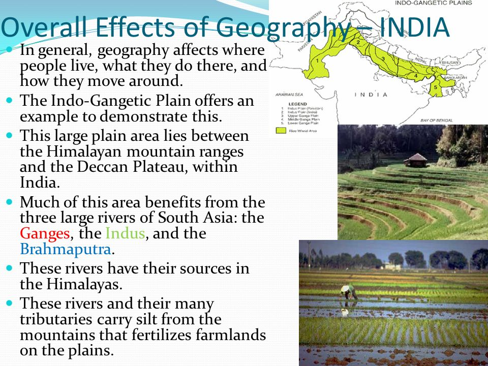 Overall Effects of Geography – INDIA