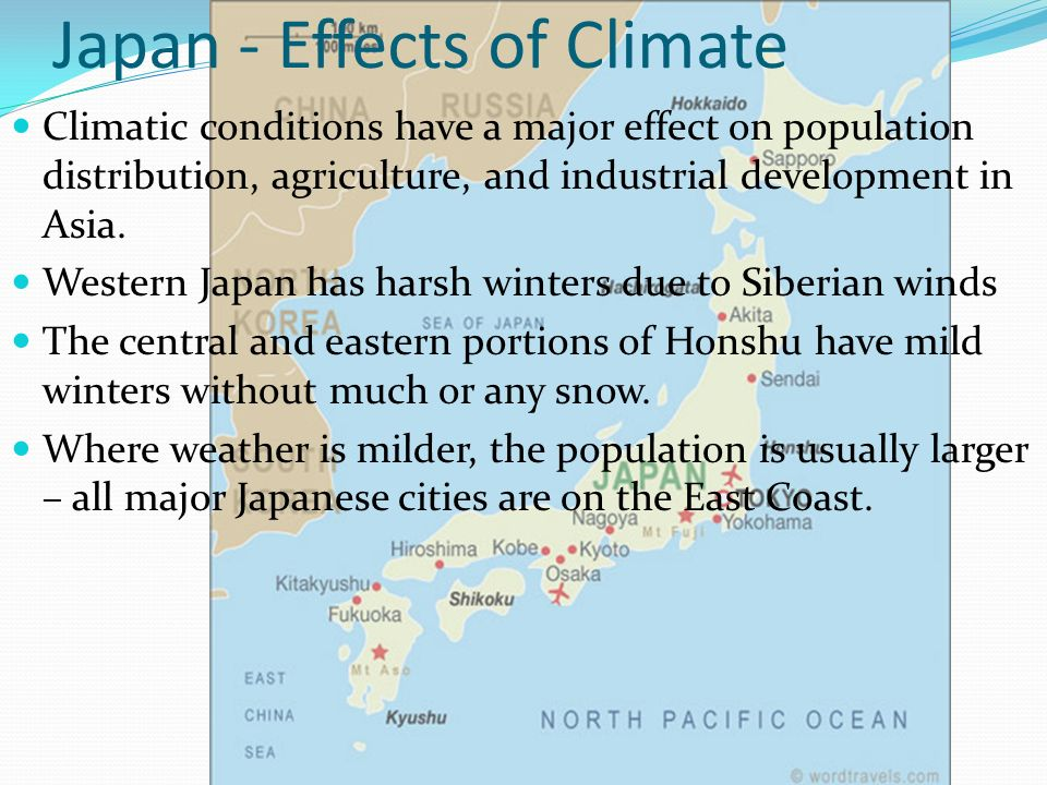 Japan - Effects of Climate