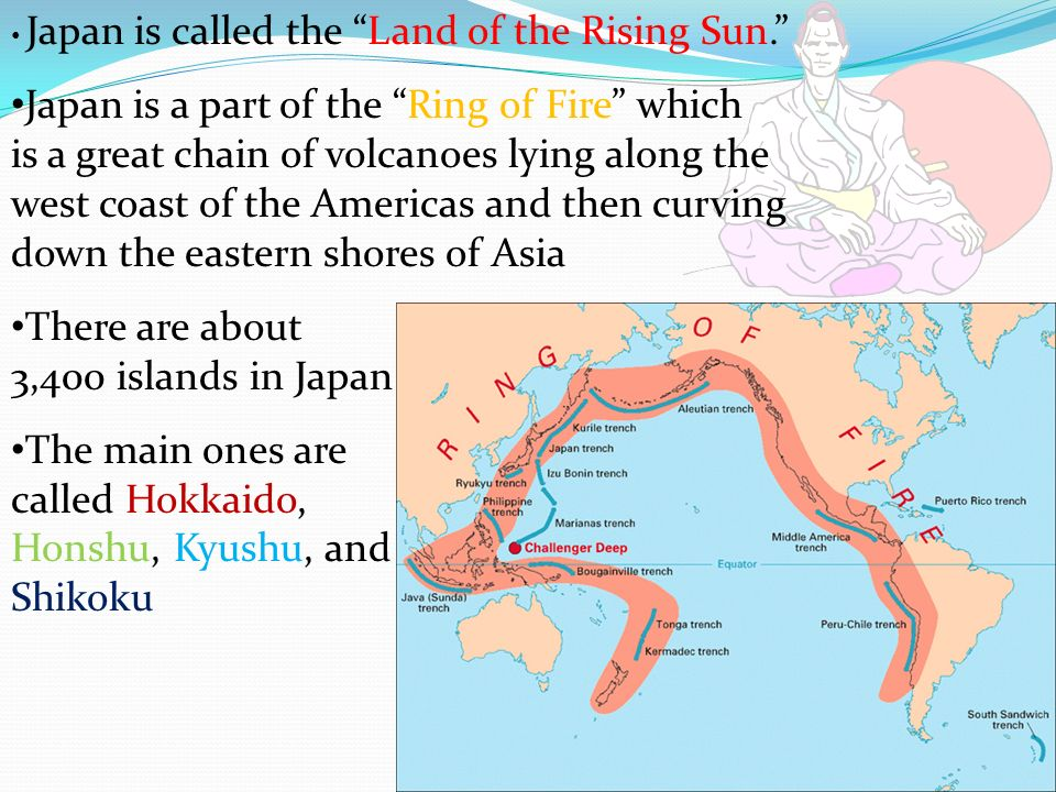 There are about 3,400 islands in Japan
