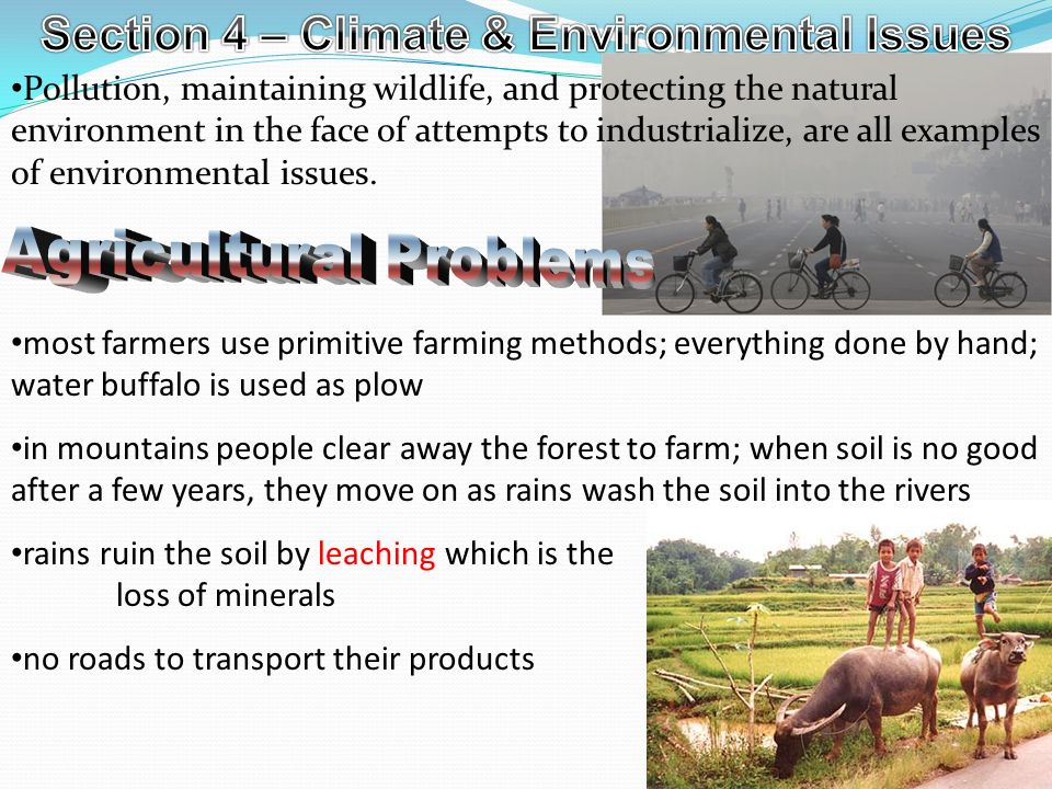 Section 4 – Climate & Environmental Issues