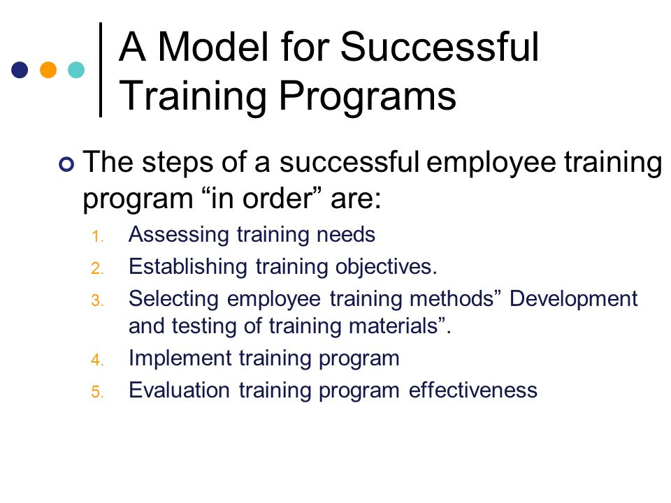 Chapter  Employee Training And Development  Ppt Video Online