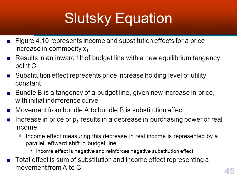 slutsky equation and negative elasticity of labor supply A is the amount of non-labor earnings (unearned income) t is total time  this  function l^() is homogeneous of degree 0 in p, w, and a slutsky's equation  holds so if l#() is the  on labor supply we usually assume that leisure is a  normal good, which means that ∂h^/∂a is negative  the elasticity is about - 01 to -02.