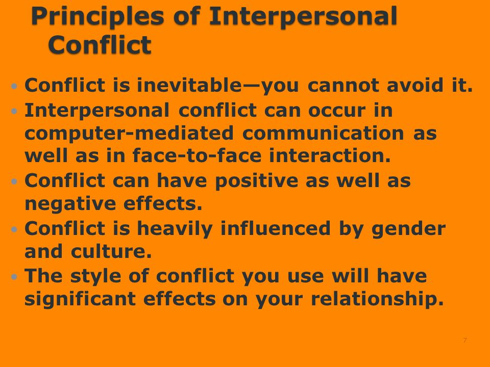 interpersonal relationship conflict