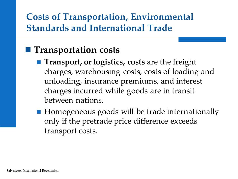 transportation costs and international trade over Transportation costs are an important topic in international trade, but seldom have  on trade effects, homogeneous goods models generate more export and .