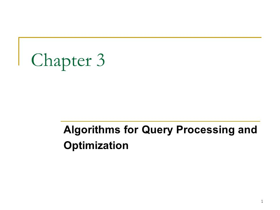 introduction to query optimization Gets you started with using and optimizing your queries with splice machine   introduction to query optimization here are a few mechanisms you can use to.