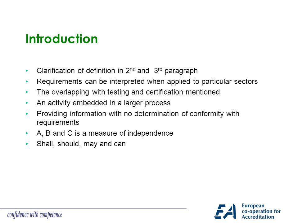 Introduction Clarification of definition in 2nd and 3rd paragraph