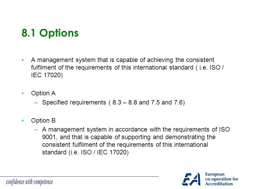 8.1 Options