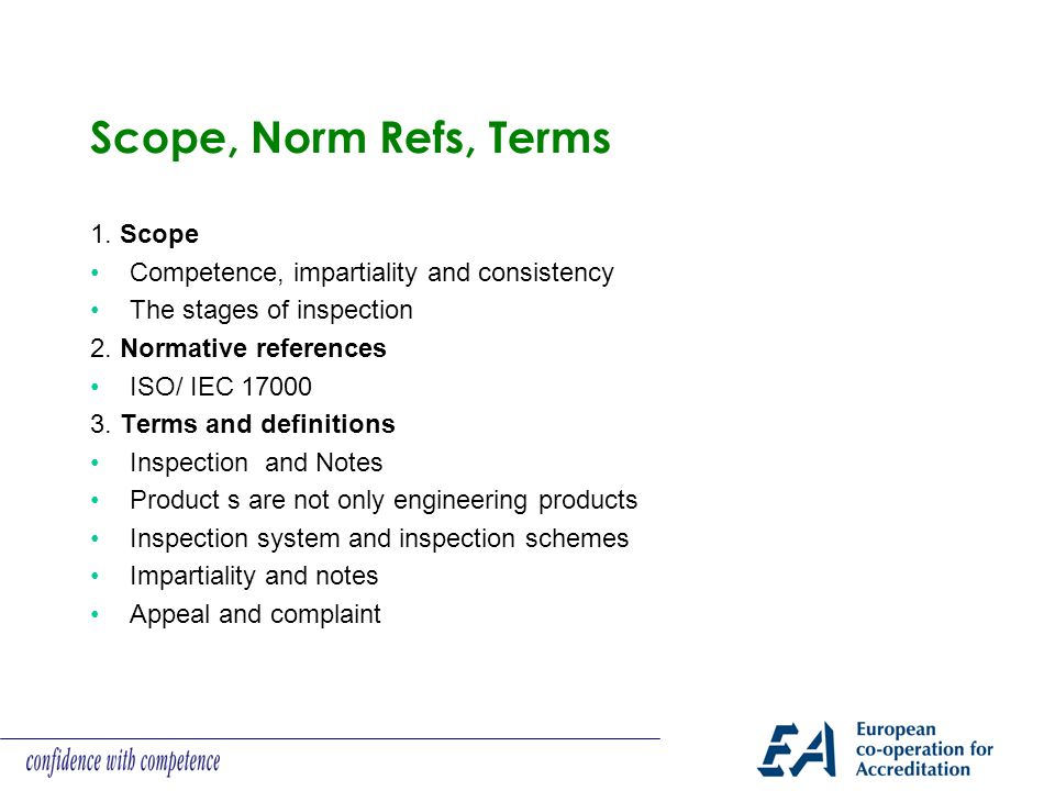 Scope, Norm Refs, Terms 1. Scope