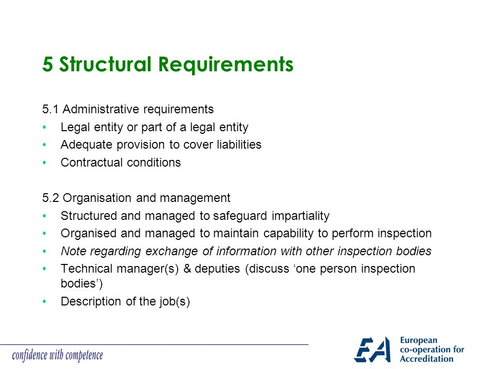 5 Structural Requirements