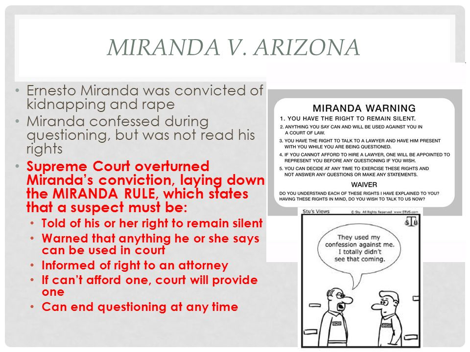 the miranda warning essay example Below is an essay on the miranda warning from anti essays, your source for research papers, essays, and term paper examples.