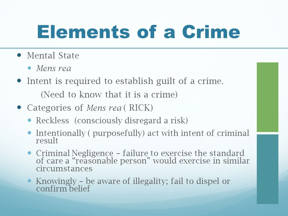 elements of a crime See united states v nize the law's traditional distinction between elements of a crime and sentencing facts, but finds it highly anomalous to read.