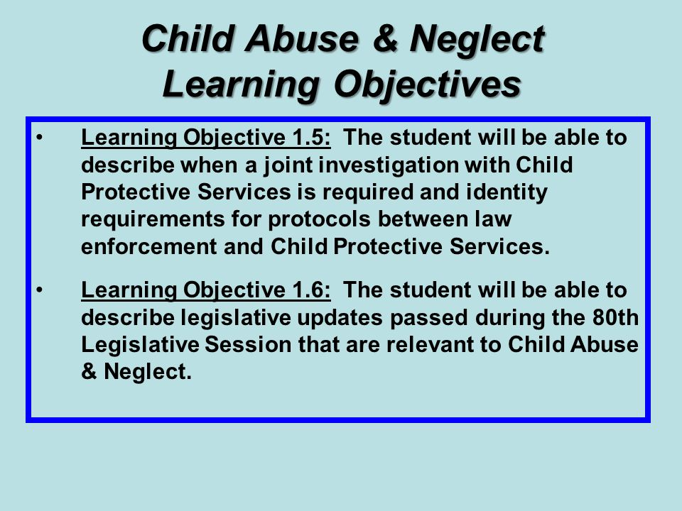 thesis statement on child abuse and neglect The issues of child abuse and neglect, this manual delves deeper into the root causes, symptoms, and consequences of neglect, as well as the .