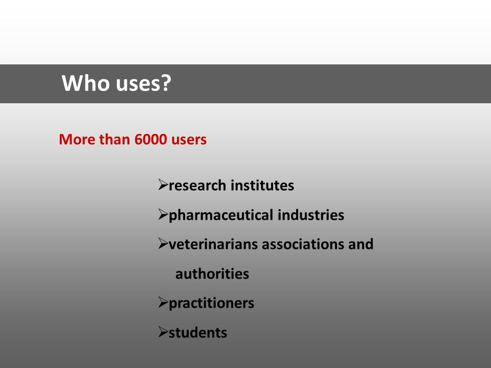 Who uses More than 6000 users research institutes